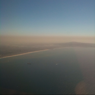 Los Angeles Smog Today Aerial Photo
