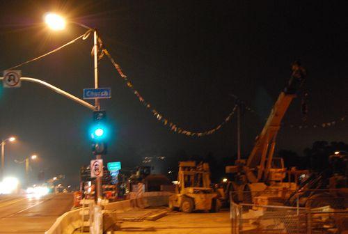 Sunset Bridge Demolition, Los Angeles