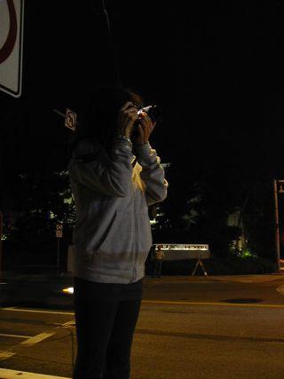 Donna at Sunset Bridge Demolition, Los Angeles