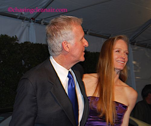 James Cameron & Suzy Amis at Global Green USA Pre-Oscar Party