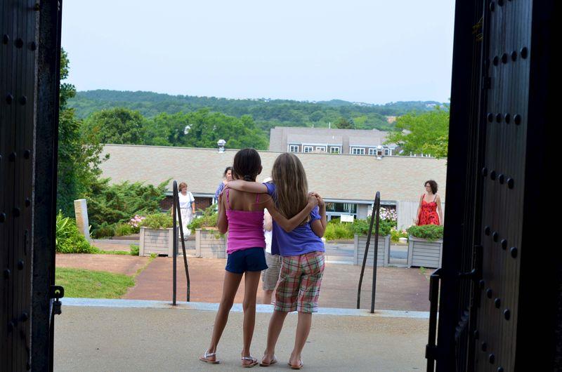 Kids at Pilgrim Monument