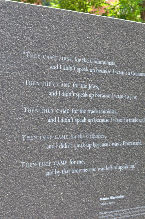 Holocaust MonumentMartinNiemoller
