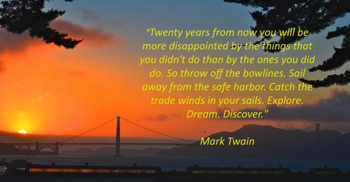 Golden Gate Bridge Sunset Mark Twain poem