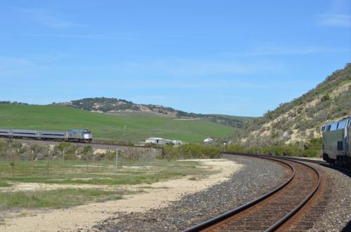 Near San Luis Obispo on Amtrak Train