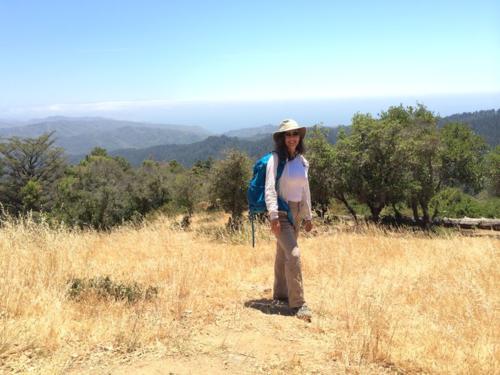 Donna hiking Mt. Tam