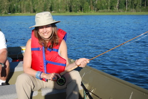 Donna fishing