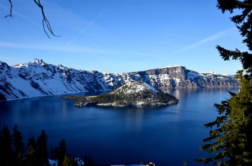 Crater Lake, Oregon. Now THAT'S pretty!