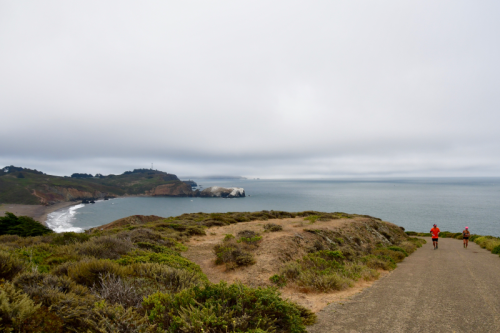 Joggers on Coastal Trail, Marin Headlands