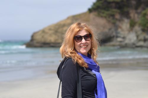 Pat at Jug Handle beach